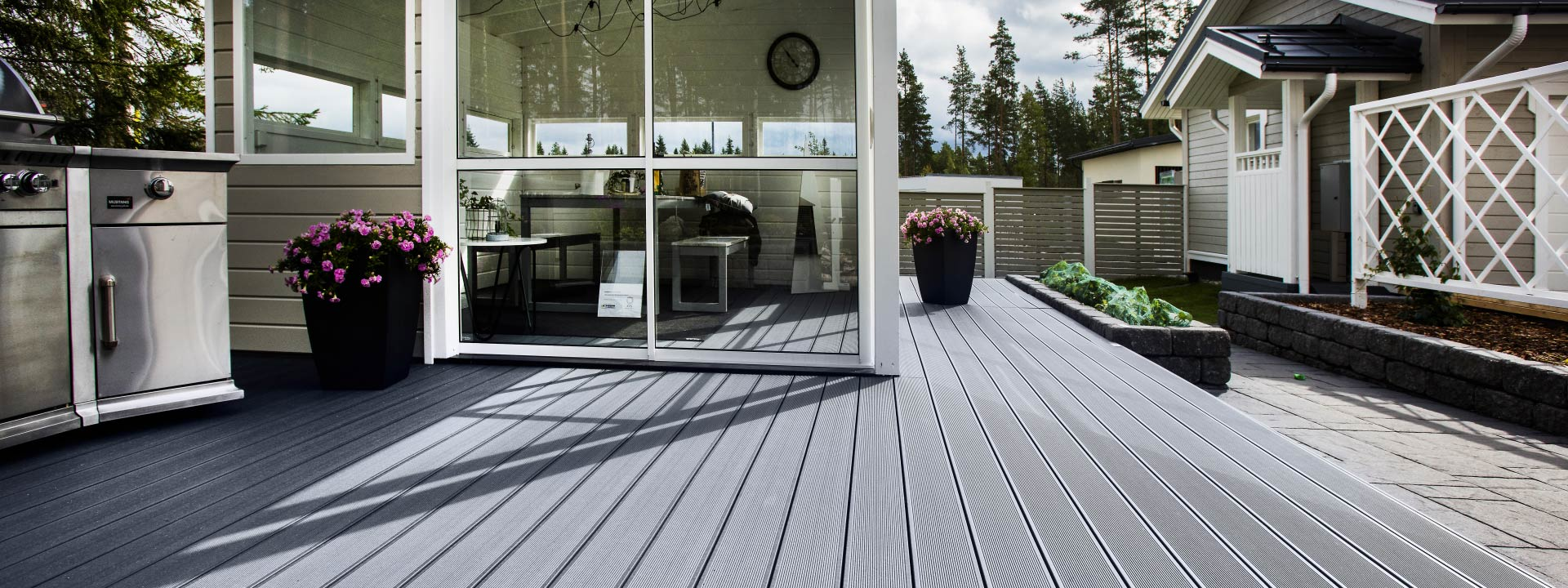 Composite decking with superior impact strength