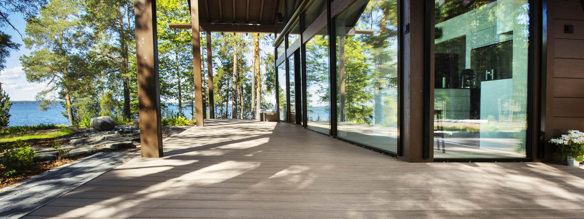 Composite decking with stain resitance