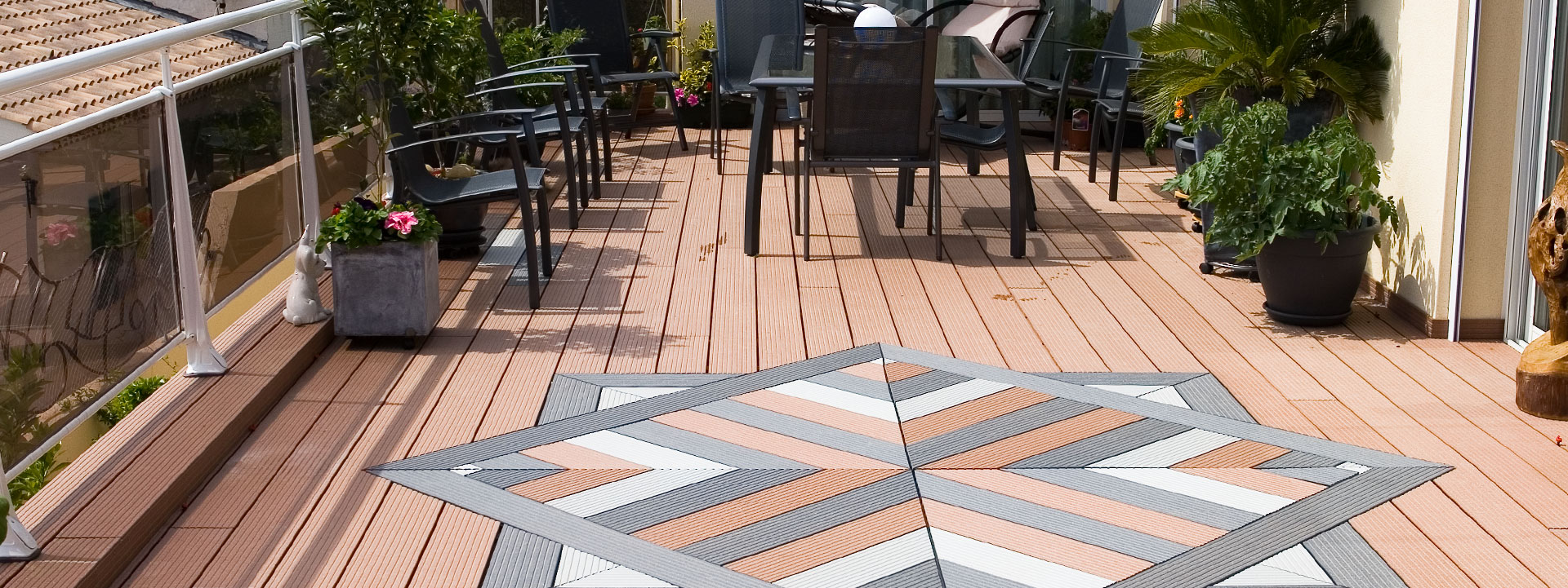 Composite decking in ireland high quality composite for Staining trex decking